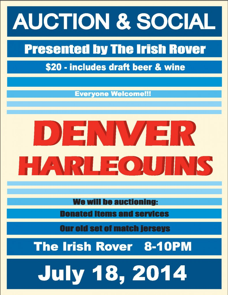 Come join the Denver Harlequins for a Summer Social