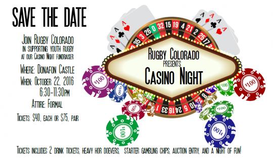 Rugby Colorado Casino Night @ Donafon Castle | Idledale | Colorado | United States