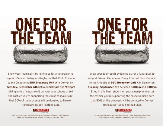 Chipotle Fundraiser Event @ Chipotle | Denver | Colorado | United States